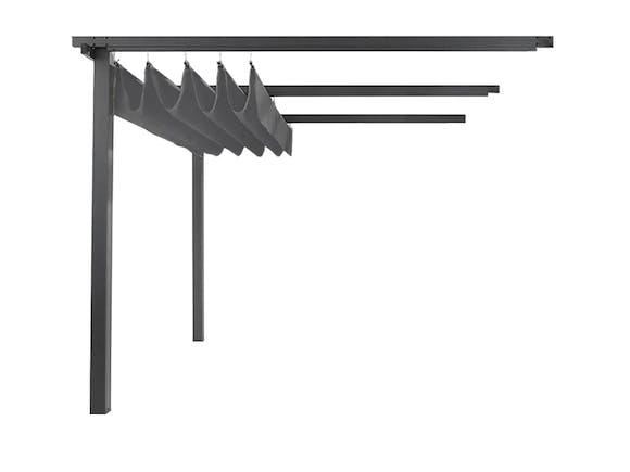 Wall Mounted Pergola Aluminium 3m x 4m