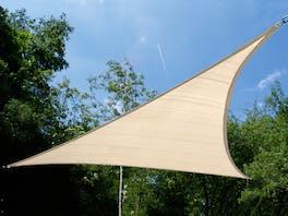 Shade Sail Triangular 3.6m x 3.6m x 3.6m Beige
