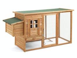 Wooden Chicken Coop 198 x 75 x 103cm