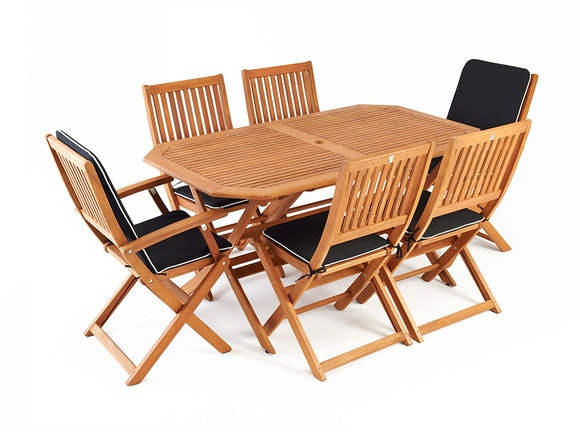 Amberley Outdoor Dining Set 6-Seater
