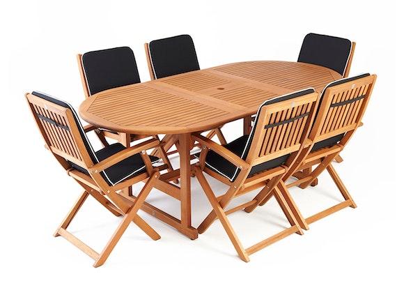 Eden Outdoor Dining Set Extending 6-Seater
