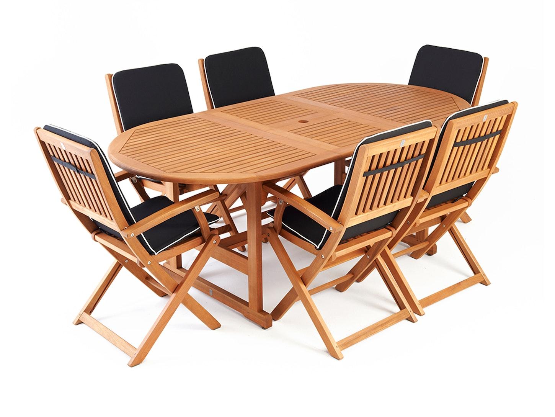 Eden Outdoor Dining Set Extending 6-Seater - Eden Outdoor Dining Set Extending 6-Seater - Dining Sets - Outdoor