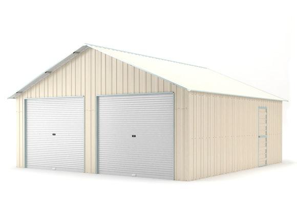 Double Garage 6.4m x 7.2m Cream