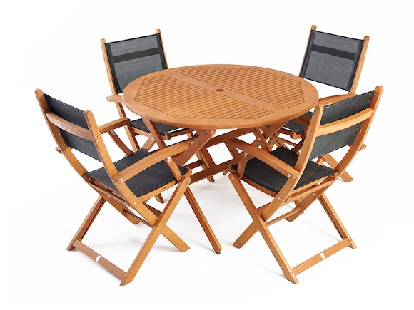 Mansfield Outdoor Dining Set Round 4-Seater