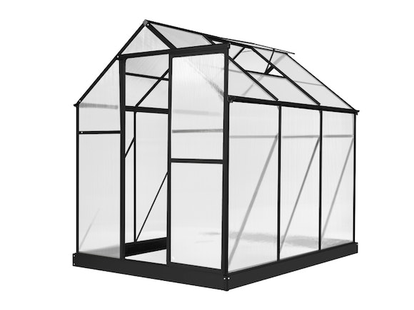 Evergreen Greenhouse 6 x 8ft Black