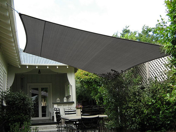 Shade Sail Square 5m x 5m Graphite