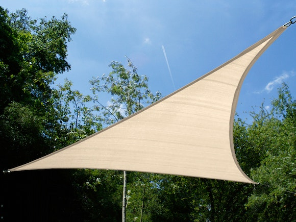 Shade Sail Triangular 3.6m x 3.6m x 3.6m Beige