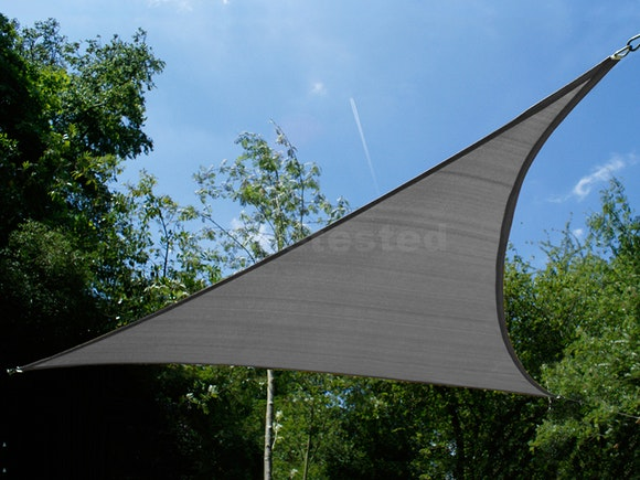 Shade Sail Triangular 3.6m x 3.6m x 3.6m Graphite
