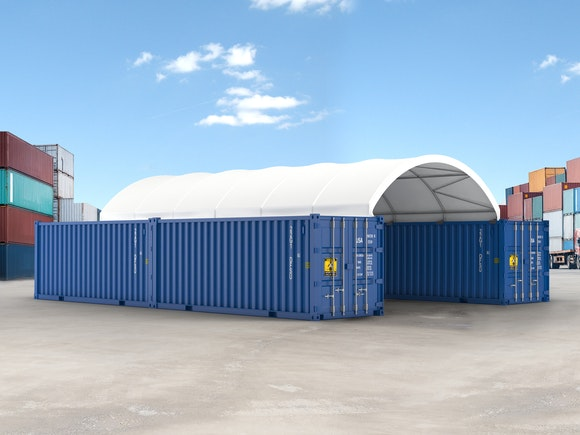 Container Shelter 12.2m x 6.1m x 1.8m