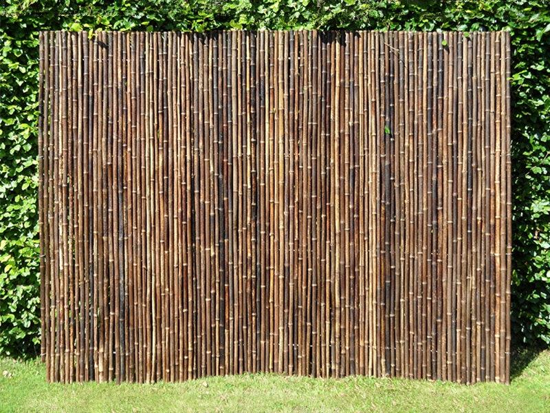 Bamboo Privacy Screen Fencing 2 4m X 1 8m Black Screens Outdoor Decor Home Living Trade Tested