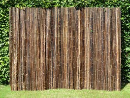 Bamboo Privacy Screen Fencing 2.4m x 1.8m Black