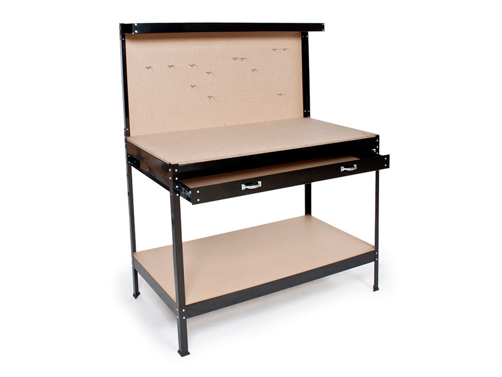 Workbench with Drawer & Peg Board