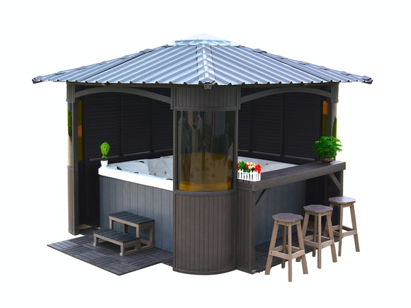 Spa Gazebo Enclosed 2.9m x 2.9m