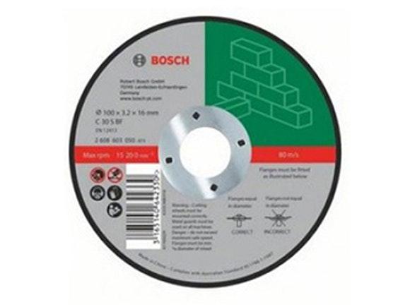 Bosch Masonry Cut-off Disc 100 x 16 x 3.2mm