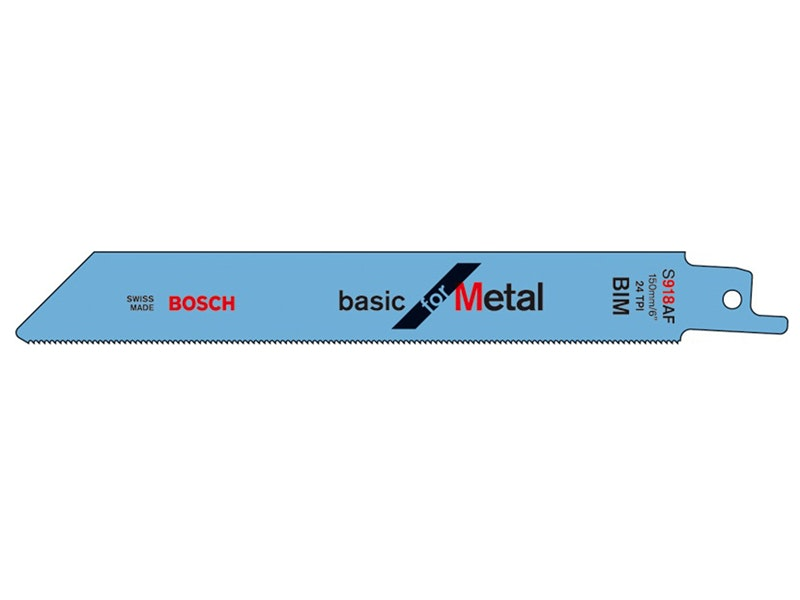 Bosch Blade Sabre Saw Metal 150 x 16 x 0.8mm 24 TPI 5 Pack