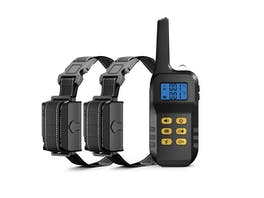 Dog Training Collar Pair with Remote 1000m