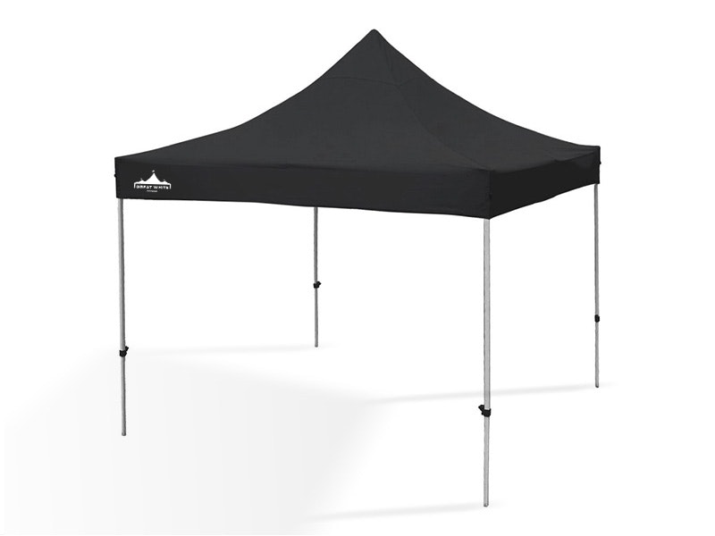 Great White Pop Up Gazebo 3m x 3m Black