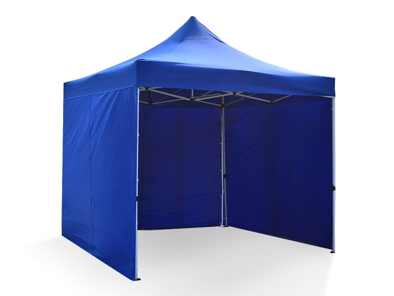 Great White Pop Up Gazebo Enclosed 3m x 3m Blue