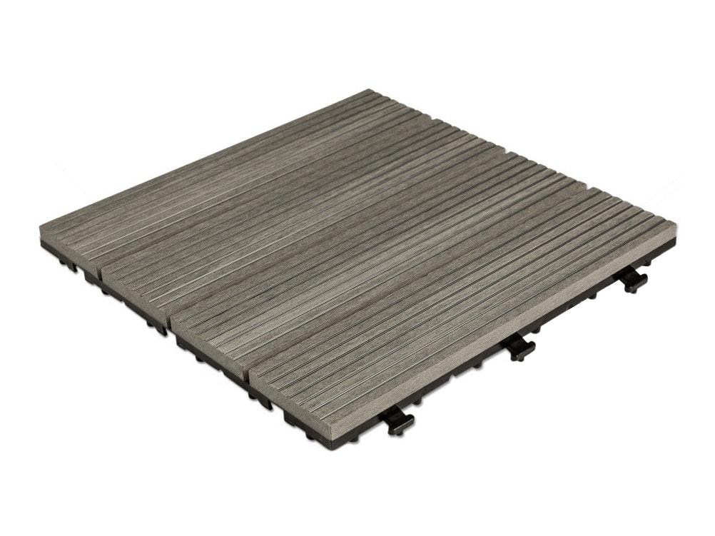 Outdoor Premium Composite Deck Tiles Grey Pack Of 10