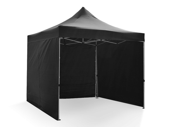 Great White Pop Up Gazebo Enclosed 3m x 3m Black