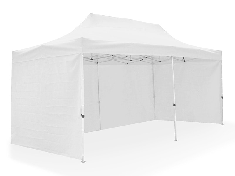 Great White Pop Up Gazebo Enclosed 3m x 6m White