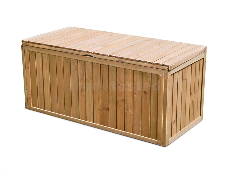 Outdoor Storage Box Wooden 290l Storage Boxes Outdoor Furniture Home Outdoor Living Trade Tested