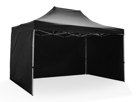 Great White Pop Up Gazebo Enclosed 3m x 4.5m Black
