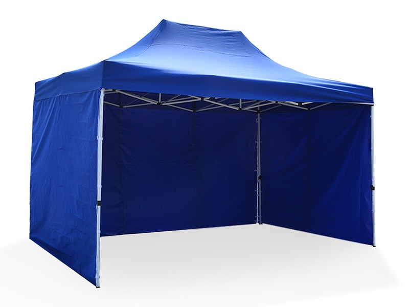 Great White Pop Up Gazebo Enclosed 3m x 4.5m Blue