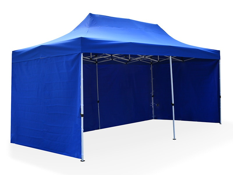 Great White Pop Up Gazebo Enclosed 3m x 6m Blue
