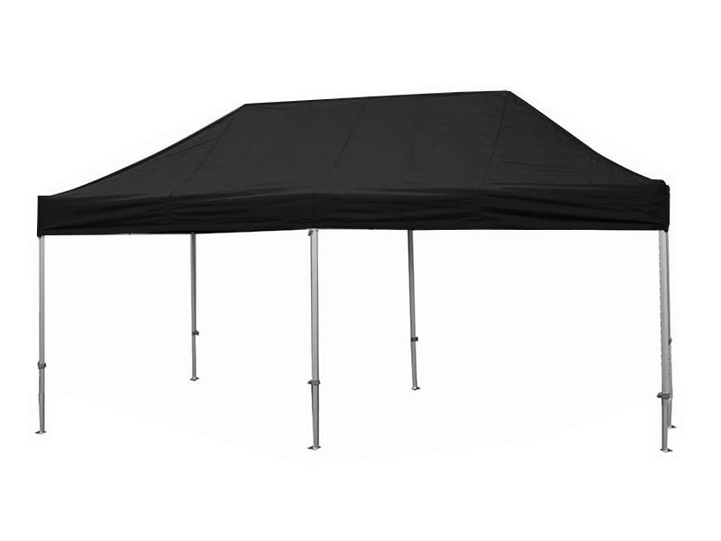 Great White Pop Up Gazebo 3m x 6m Black