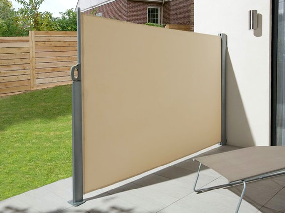 Retractable Side Screen 1 8m X 3m Beige Privacy Screens
