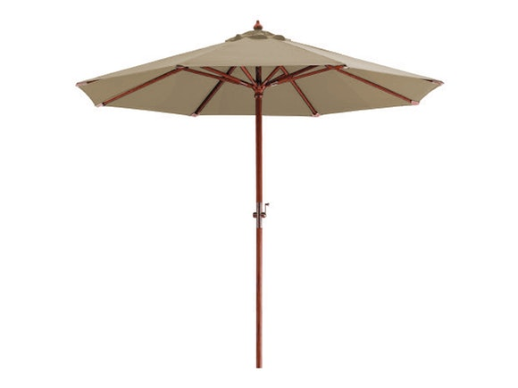 Hardwood Outdoor Umbrella 3m Taupe