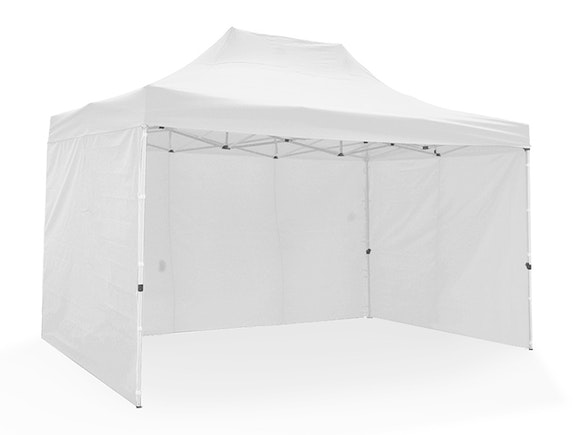 Great White Pop Up Gazebo Enclosed 3m x 4.5m White