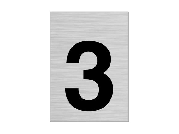 """Letterbox Number 75mm """"3"""""""