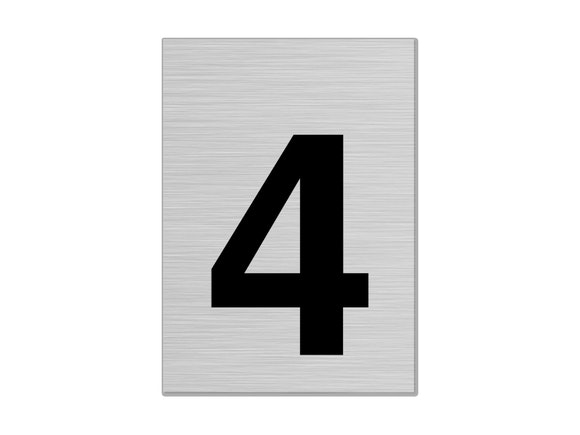 """Letterbox Number 75mm """"4"""""""