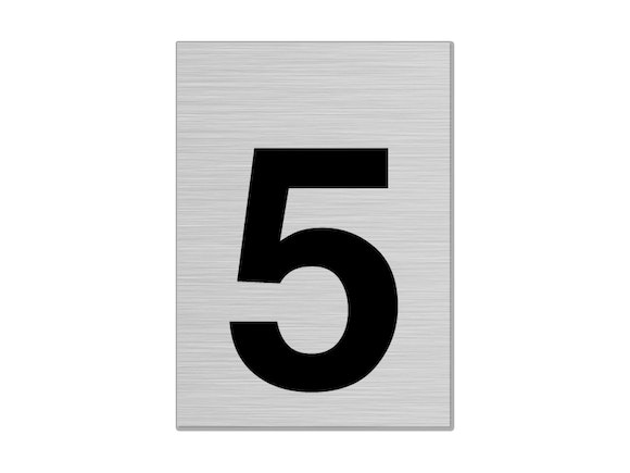 """Letterbox Number 75mm """"5"""""""