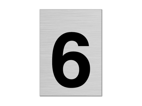 """Letterbox Number 75mm """"6"""""""