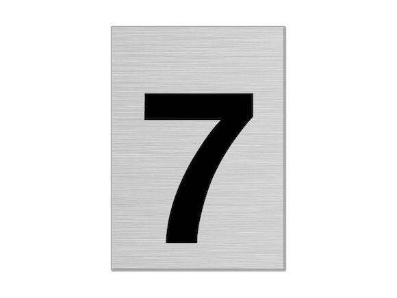 "Letterbox Number 75mm ""7"""
