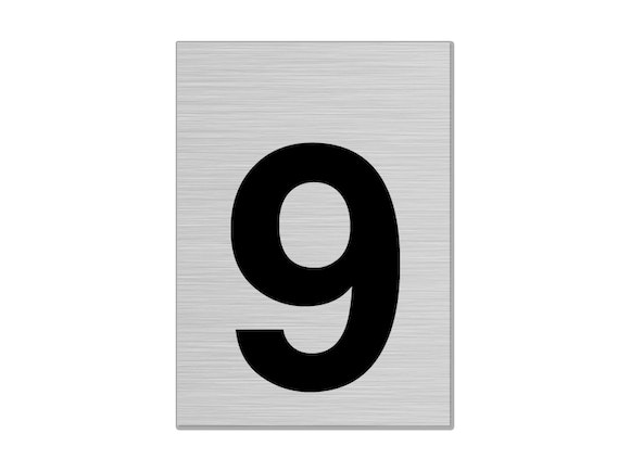 """Letterbox Number 75mm """"9"""""""