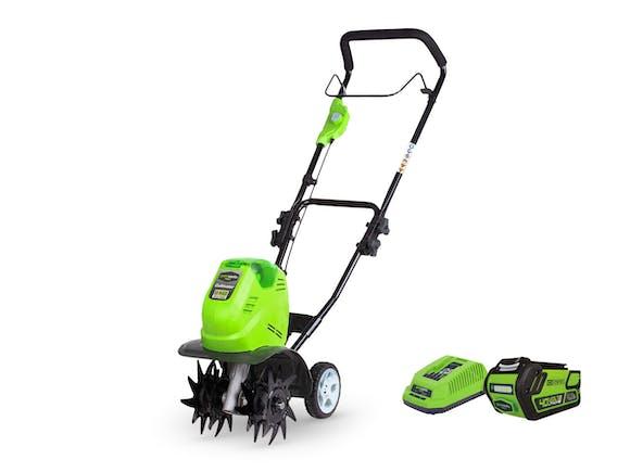 GreenWorks Garden Tiller G-MAX 40V Li-Ion 2.0Ah Kit