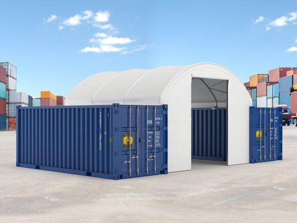 Container Shelter End Wall for 6.0m x 6.1m x 1.8m