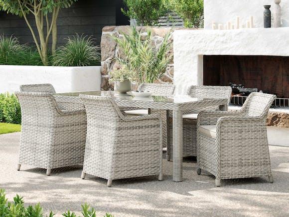 Brighton Rattan Outdoor Dining Set - 6 Seater