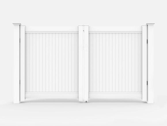 PVC Privacy Fence Driveway Gate Kit 3.65m