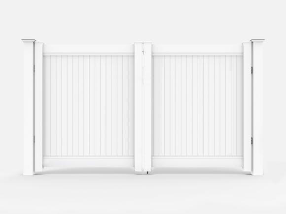 PVC Privacy Fence Driveway Gate Kit 3.6m