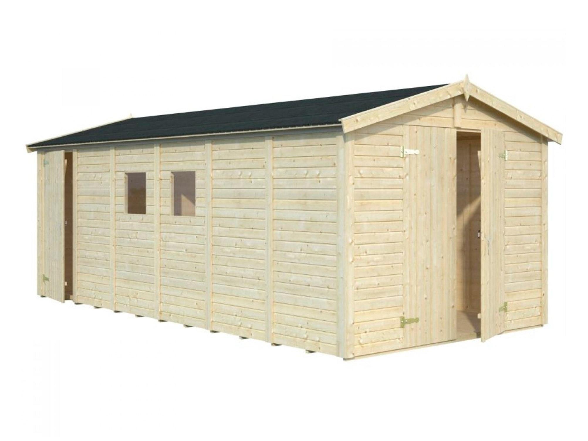 Wooden Garden Shed Dan 2.73m x 5.5m x 1.9m