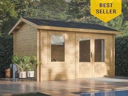 Log Cabin Garden House Iris 3.6m x 2.7m