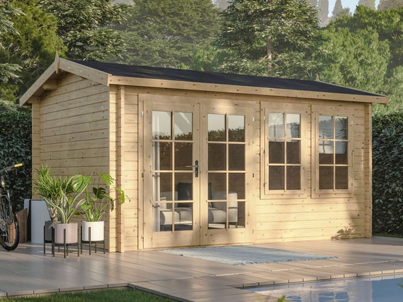Log Cabin Garden House Iris 3.9m x 3.0m