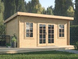 Log Cabin Garden House Lisa 4.5m x 3.3m