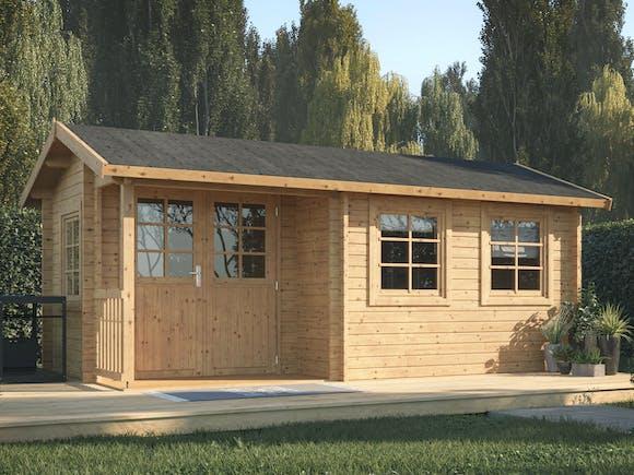 Log Cabin Garden House Susanna 5.1m x 3m