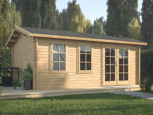 Log Cabin Garden House Iris 5.1m x 3.9m